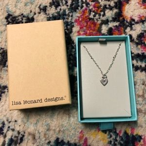 "Lisa Leonard Heart ""R"" Initial Necklace"